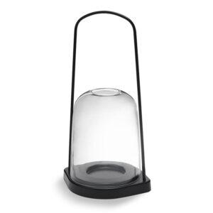 Bell Windlicht schwarz 25cm