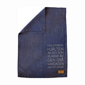 Geschirrtuch Küchentuch Zitat blau